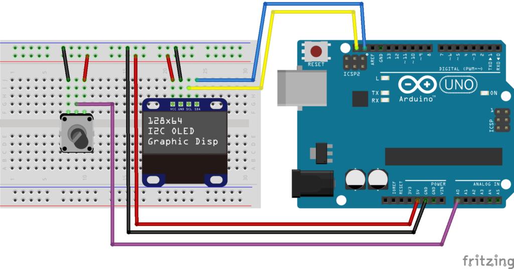 simple_wiring_u8g_I2C_breadboard
