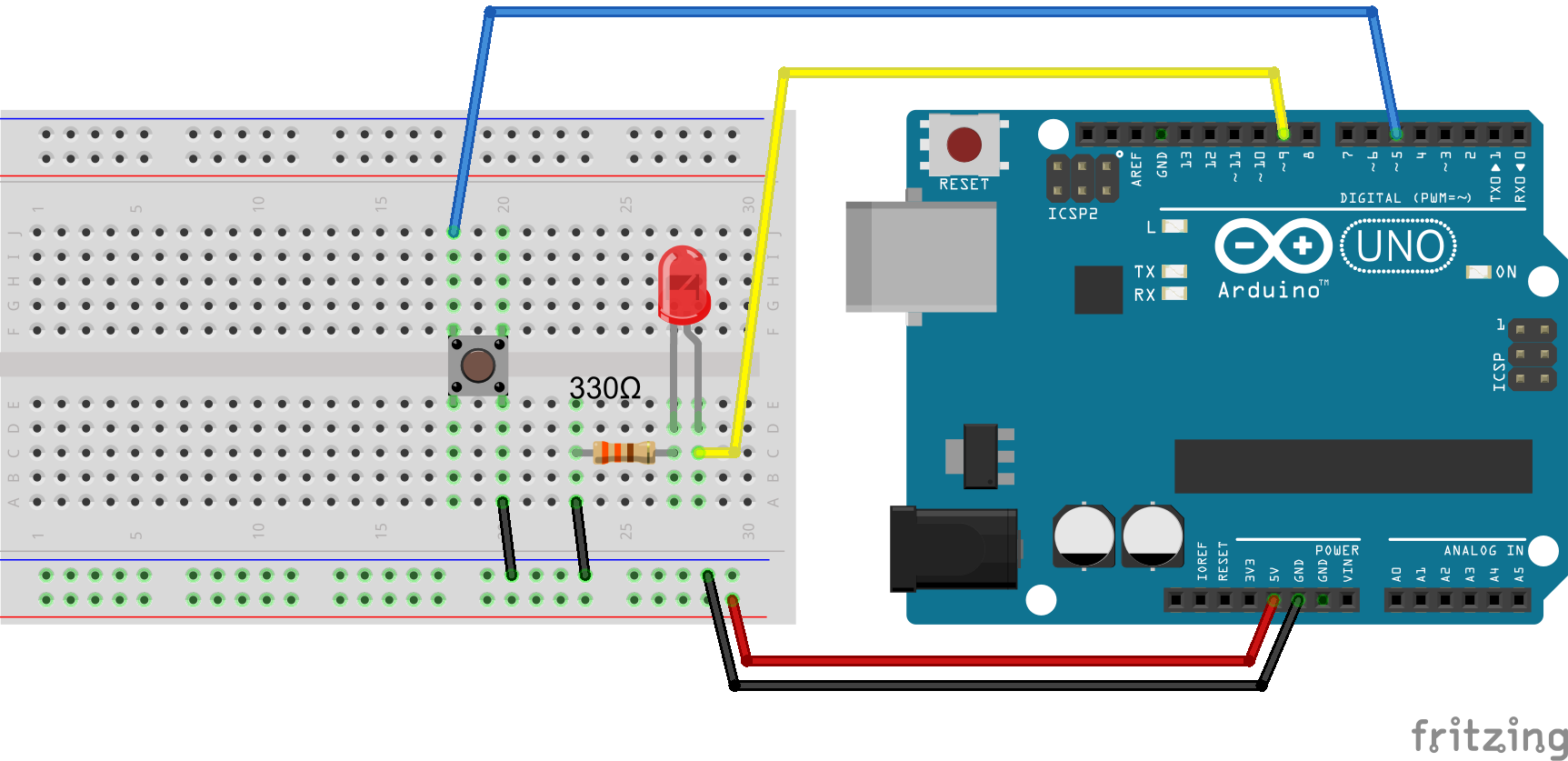 1color_led_1_breadboard