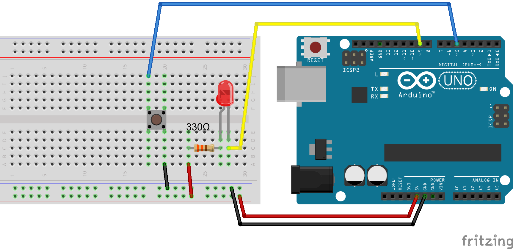 1color_led_2_breadboard