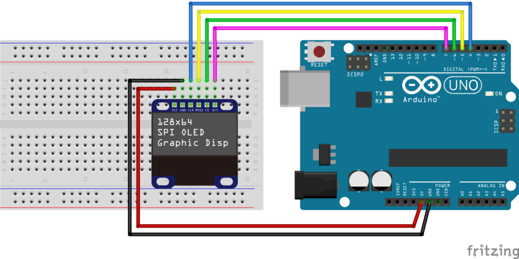 simple_wiring_u8g_SPI_breadboard