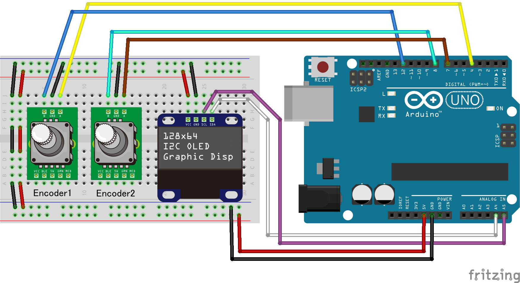 "Using rotary encoder part 3 : ""Dual Encoder"" – jumbleat"