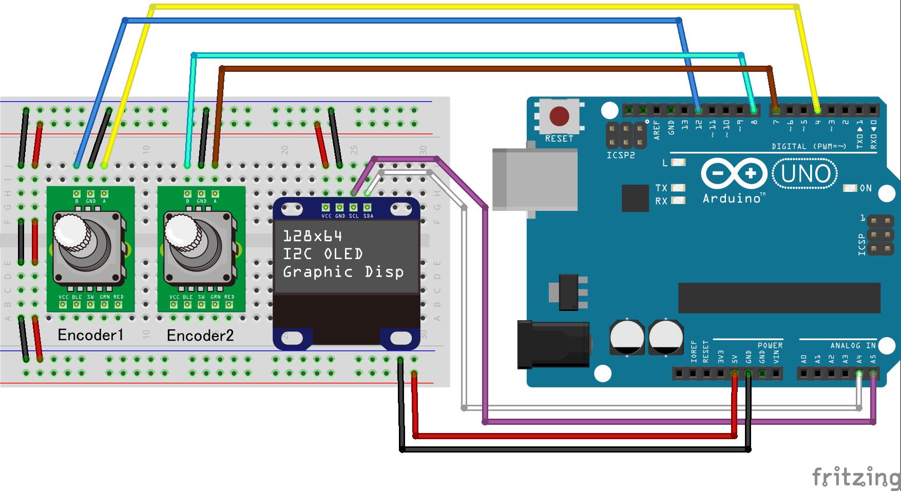 "Using rotary encoder part 3 : ""Dual Encoder"" | jumbleat"