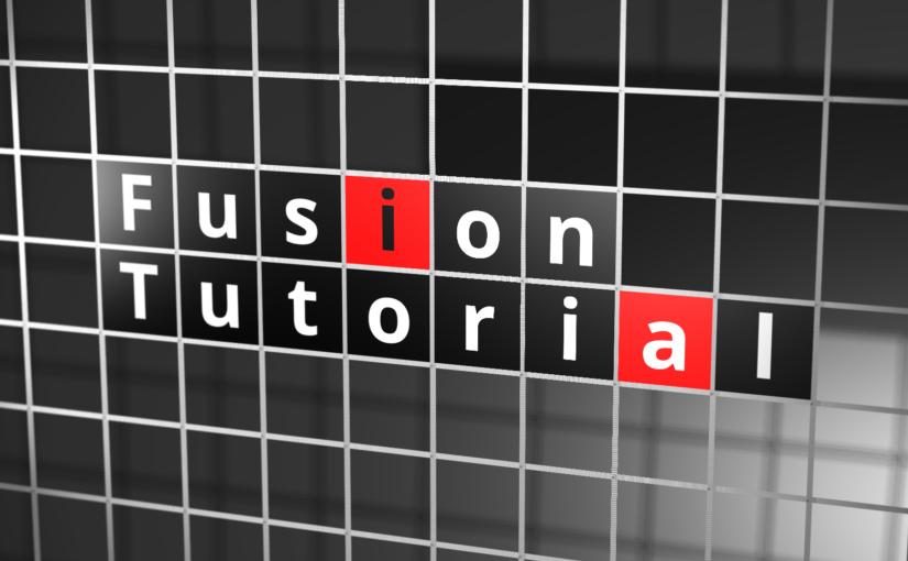 "Fusion Tutorial 10 :<span class=""sub_title"">グリッド線のタイポグラフィ</span>"